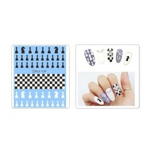 DLS229-242 5 PCS 7 Patterns DIY Design Beauty Water Transfer Nails Art Sticker Nail Art Decoration Accessories, Random Color Delivery, Without Nails