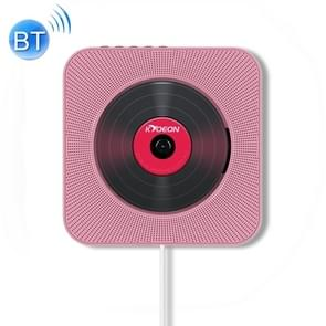 KC-808 Wall Mounted Bluetooth 4.2+EDR CD Player with Remote Control, Support FM(Pink)
