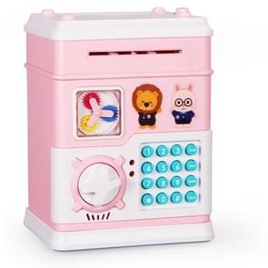 MoFun 16 Keys USB Fully Automatic Money Coin Bank, Support to Play Song / Story, with Counterfeit Light(Pink)