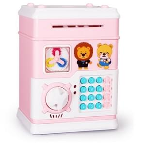 MoFun 12 Keys Fully Automatic Money Coin Bank, Support to Play Song / Story, with Counterfeit Light(Pink)