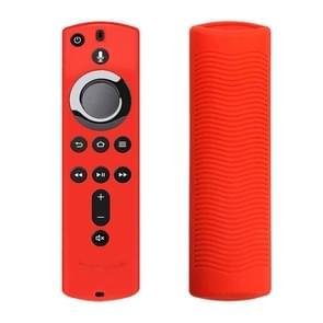 Anti-slip textuur wasbare siliconen afstandsbediening voor Amazon Fire TV Afstandsbediening (Rood)