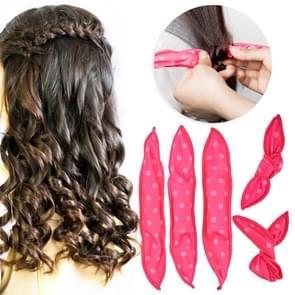 20 PCS Cute Wave Point Hair Curler Sleeping Rabbit Ear Hair Roll