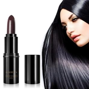 Natural Lipstick Type Disposable Hair Dye Pen Covering Gray Hair Dyeing Stick Paste(Brown)