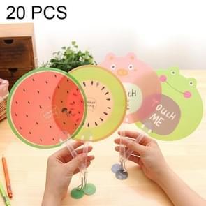 20 stuks creatieve schattig Fruit Cartoon Hand ventilator koele kinderen Fan  willekeurige stijl-levering