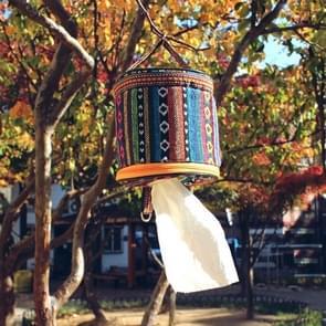Buiten Camping opvouwbare etnische stijl doek weefsel zaak opbergtas  formaat: 14 5 * 13 cm