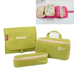 Romix SSZS-0009 3 in 1 Multi-function Portable Large Capacity Travel Packing Bag for Women Traveling on Business Packing Bag for Toiletries(Green)