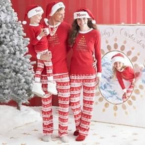 Christmas Family Matching Letters Printing Cotton Sleepwear Sets for Mom, Size: L