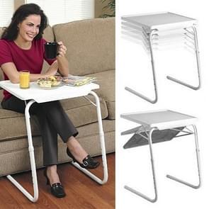 Plastic Pad Steel Tube Bracket Liftable Foldable Portable Multi-purpose Laptop Table, Adjustable Height: 53-74cm, Adjustable Angle: 30 Degrees / 60 Degrees / 90 Degrees / 180 Degrees