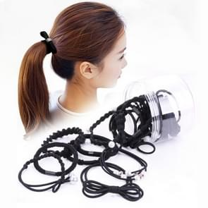 24 PCS/Boxed Simple Creative Lady Pearl Strik Style Hair Band(zwart)