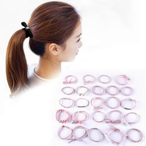 24 PCS/Boxed Simple Creative Lady Pearl Strik Style Hair Band(roze)