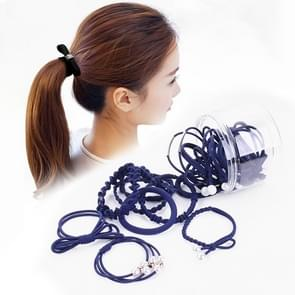 24 PCS/Boxed Simple Creative Lady Pearl Strik Style Hair Band(Navy blauw)