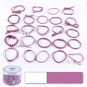 24 PCS/Boxed Simple Creative Lady Pearl Strik Style Hair Band(paars)