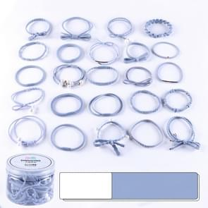 24 PCS/Boxed Simple Creative Lady Pearl Strik Style Hair Band(Baby blauw)