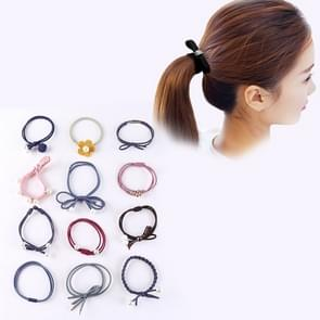 12 PCS/Boxed Simple Creative Lady Pearl Strik Style Hair Band (Colour)