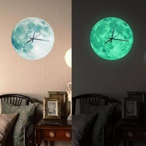 Funlife Creative Noctilucent Moon Earth Style Acrylic Wall Clock