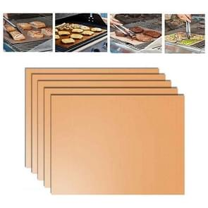 5 PCS 0.2mm Barbecue Grill Mat Non-Stick BBQ Baking Mats, Size: 40 x 33cm(Bronze)