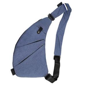 Mode slijtvaste multifunctionele zakken één schoudertas borst Front tas voor Man (donkerblauw)