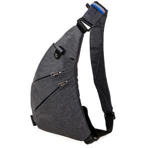 Mode slijtvaste multifunctionele zakken één schoudertas borst Front tas voor Man(Grey)