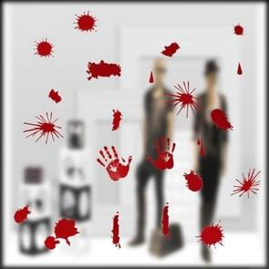 Halloween Festive Atmosphere Horrible Bloody Handprint DIY Wall Static Sticker Party Haunted Home Decoration, Size: 43*30cm