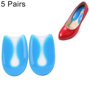 5 Pairs U-shaped Heel Pad Soft and Comfortable Shock Absorption Silicone Pad Insole, Size: S(30-34 Yards)