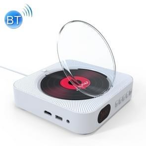 KC-606 Bluetooth 4.2+EDR-dvd-speler met op wand met afstandsbediening  ondersteuning FM(Wit)