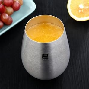 Stainless Steel Beer Fruit Juice Cup Household Water Cup, Size: 11.5x6.6cm