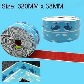 3.8cm PVC zee patroon keuken en badkamer waterdicht en schimmel bewijs cassette Toilet Sticker  Length:3.35m(Blue)