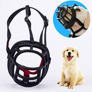 Hond snuit voorkomen bijten kauwen en blaffen maakt drinken en panting  grootte: 8.2 * 7.6 * 10.4 cm (zwart)