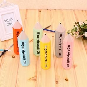 Creative Pencil Shape Stationery Candy Color Pencil Case Multifunctional Silicone Pencil Box, Random Color Delivery