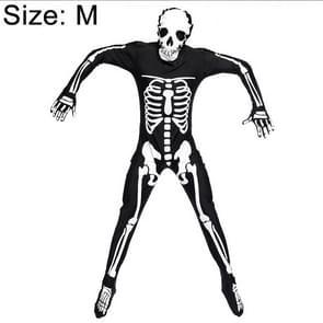 Halloween Costume Men Skeleton Jumpsuit Cosplay Clothing, Size:M, Bust:95cm, Waistline:90cm, Total Length:179cm, Suggested Height:165~175cm