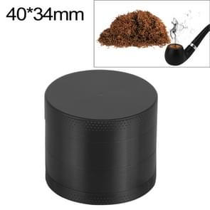 Mini 4-layer 40mm Zinc Alloy Herb Tobacco Cigarette Grinder (Black)