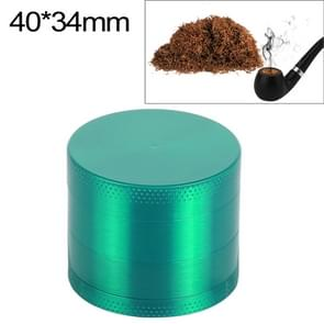 Mini 4-layer 40mm Zinc Alloy Herb Tobacco Cigarette Grinder (Green)