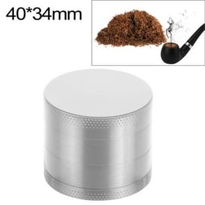 Mini 4-layer 40mm Zinc Alloy Herb Tobacco Cigarette Grinder (Silver)