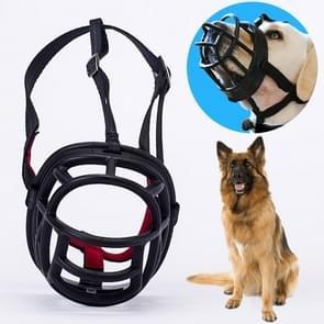 Hond snuit voorkomen bijten kauwen en blaffen maakt drinken en panting  grootte: 11.2 * 10.7 * 14.3 cm (zwart)