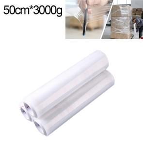 PE transparant Stretch Wrap Film (breedte: 50cm  lengte: 380m)