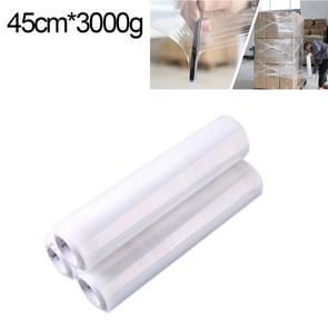 PE transparant Stretch Wrap Film (breedte: 45cm  lengte: 390m)