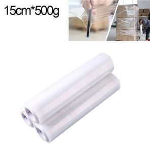 PE transparant Stretch Wrap Film (breedte: 15cm  lengte: 220m)