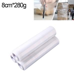PE transparant Stretch Wrap Film (breedte: 8cm  lengte: 220m)