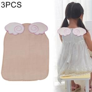 3 PCS Cotton Yarn Butterfly Wings Pattern Sweat-absorbent Back Towel for Child, Size: M, Random Color Delivery