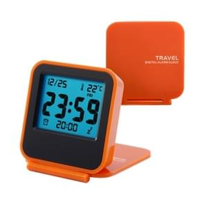 AQ-133 LCD Display Digital Travel Alarm Clock Office Table Alarm Clock With Night Light, Random Color Delivery
