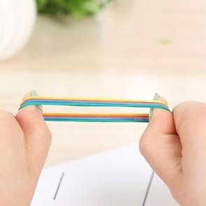 Geassorteerde kleuren stevige stretch elastisch Rubber Bands School Supplies Kantoorbenodigdheden  1KG Per zak