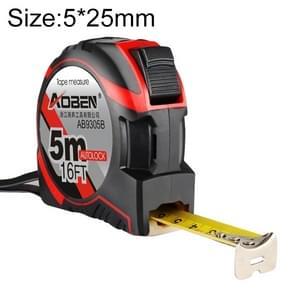 Aoben intrekbare liniaal meten Tape draagbare Pull liniaal Mini meetlint  lengte: 5m breedte: 25mm
