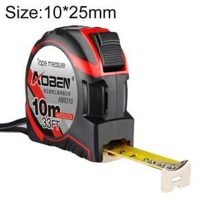 Aoben intrekbare liniaal meten Tape draagbare Pull liniaal Mini meetlint  lengte: 10m breedte: 25mm