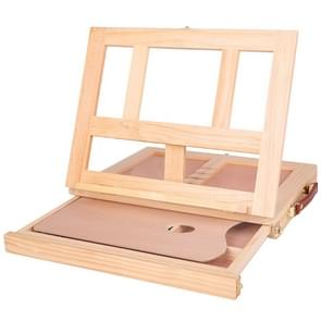 Portable Folding Desktop Wooden Easel for Painting with Drawer