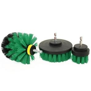 3 PCS Bathroom Kitchen Cleaning Brushes Kit for Electric Drill (Green)