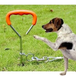 Hond stapel fixatie spiraal nagel met handvat voor middelgrote kleine hond lange opleiding Outdoor  grootte: 45 cm * 9 mm