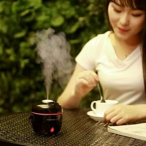 Rice Cooker Shape Mini LED Light Air Humidifier for Home & Office (Black)