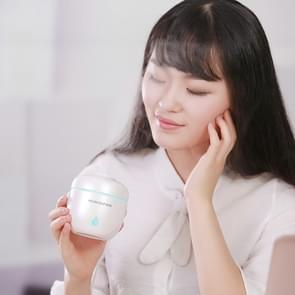 Rice Cooker Shape Mini LED Light Air Humidifier for Home & Office (White)