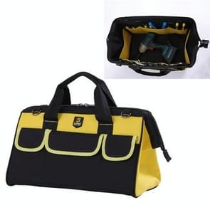 Multi-function Oxford Cloth Electrician Belt Pouch Maintenance Tools Handbag Shoulder Bag Convenient Hardware Tool Bag, Size : 19 inch(Yellow)