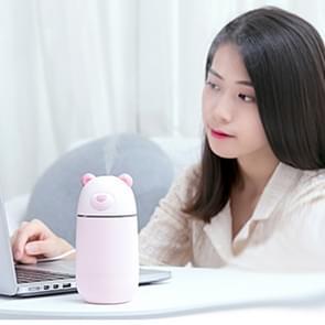 Creatieve Mini Draagbare ijsbeer vorm dempen bureaublad Air luchtbevochtiger met uitgebreide USB-poort  capaciteit: 320ml  DC 5V (roze)